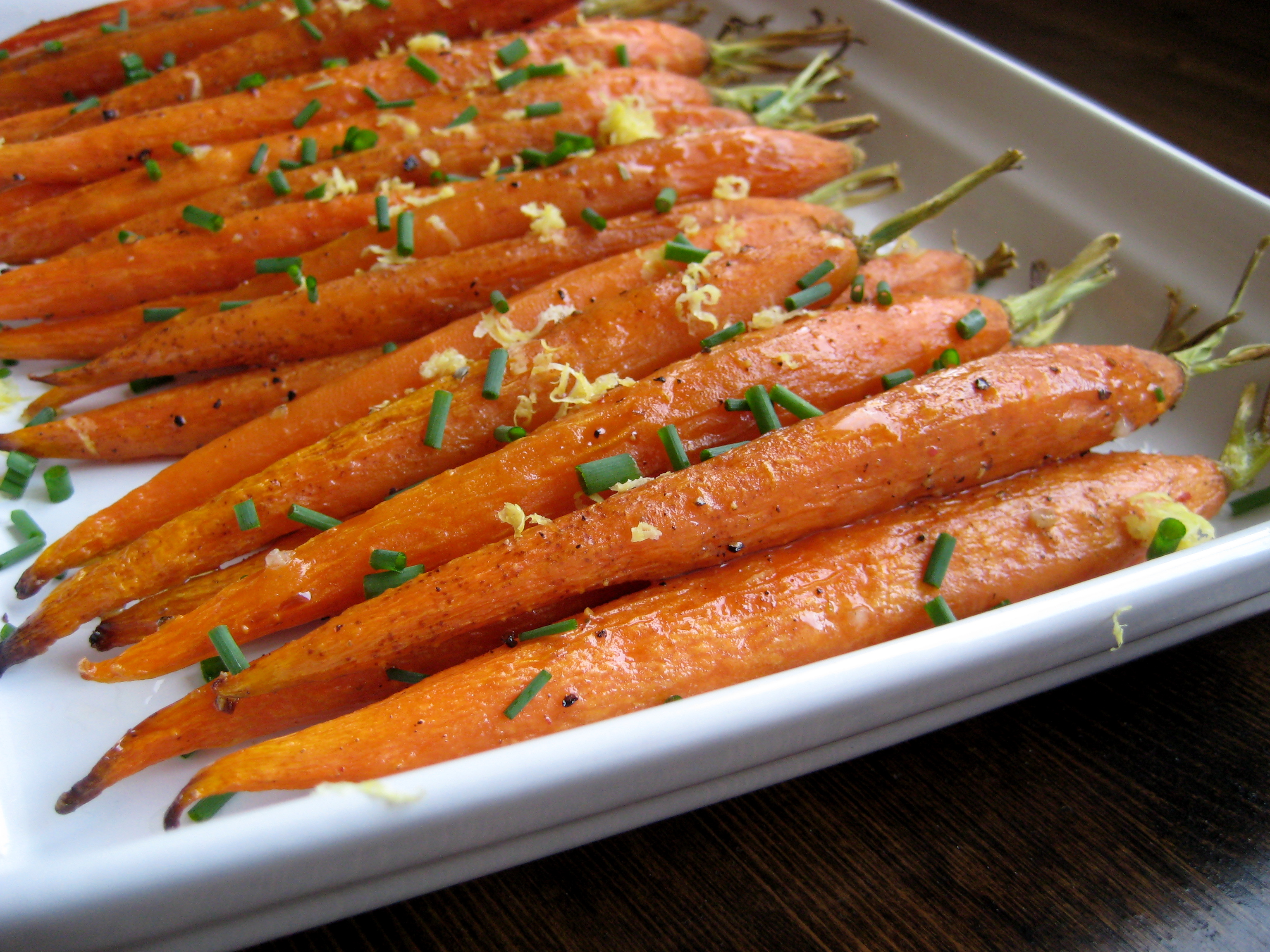 Roasted Carrots with Lemon and Chives | Laurie Sadowski