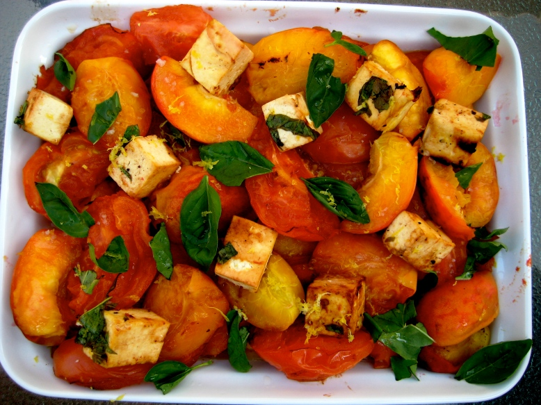 peach tomato tofu