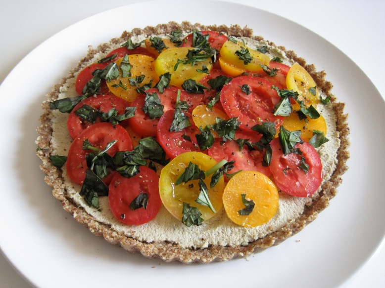 raw tomato sunflower tart2