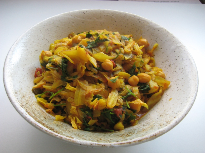Cabbage and Chickpea Curry