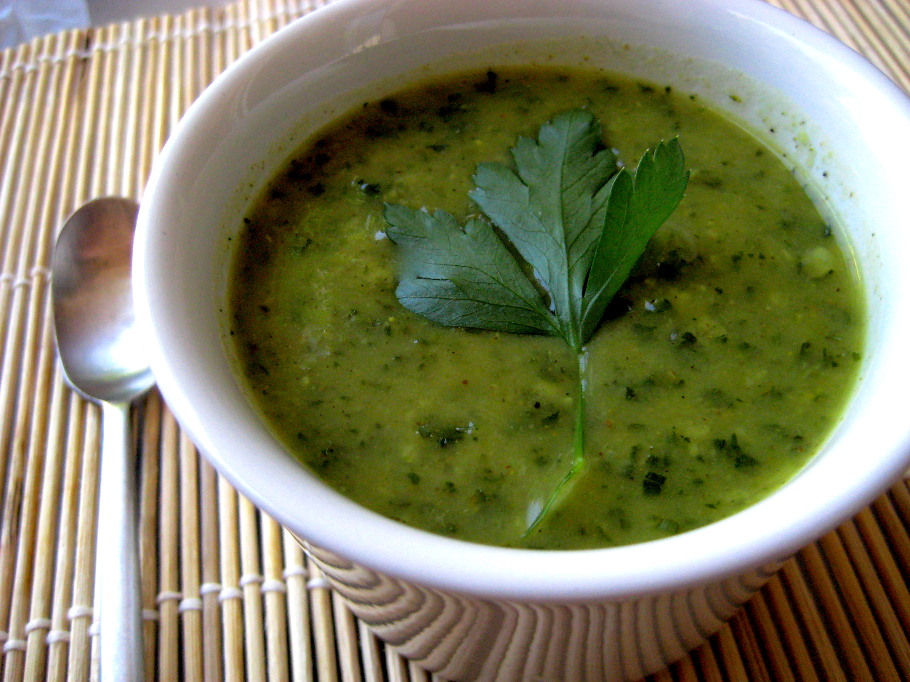 Curried Zucchini and Kale Soup | Laurie Sadowski