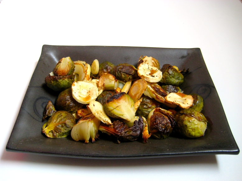Roasted Brussels, Parsnips, and Fennel with Ice Syrup