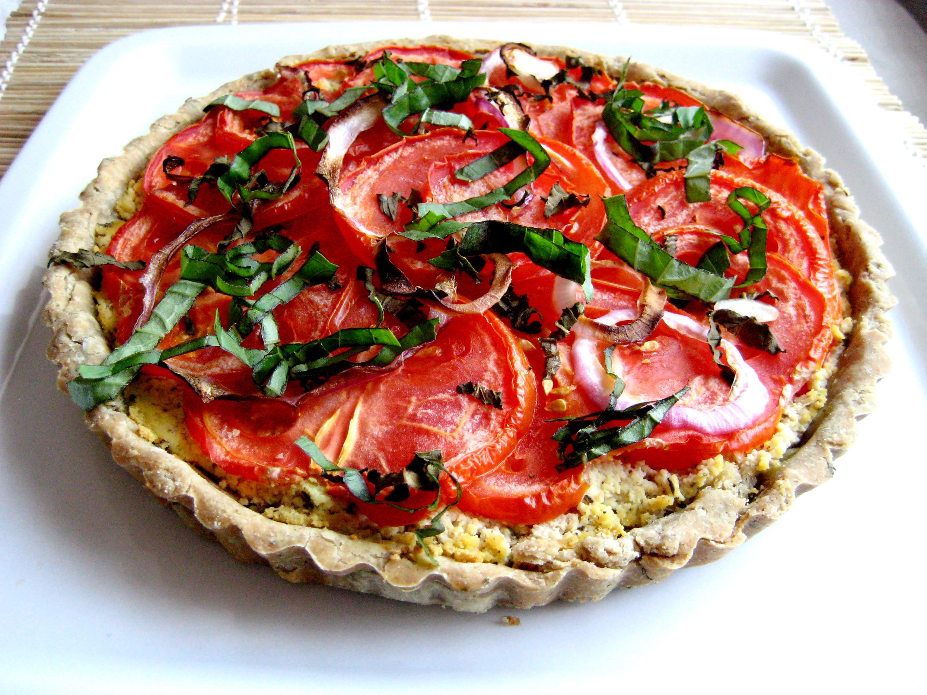 Ricotta, Tomato, and Basil Tart | Laurie Sadowski
