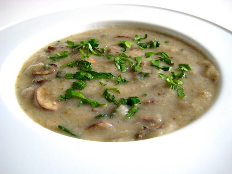 kohlrabi and mushroom soup1