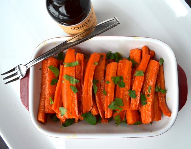Maple Roasted Carrots with Bitter Orange