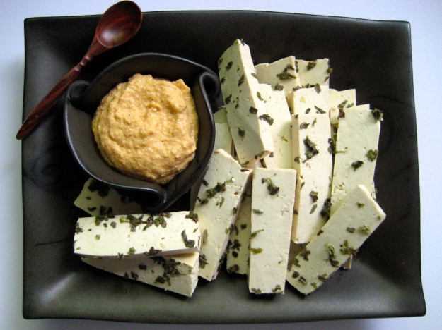 homemade mustard and brined tofu1