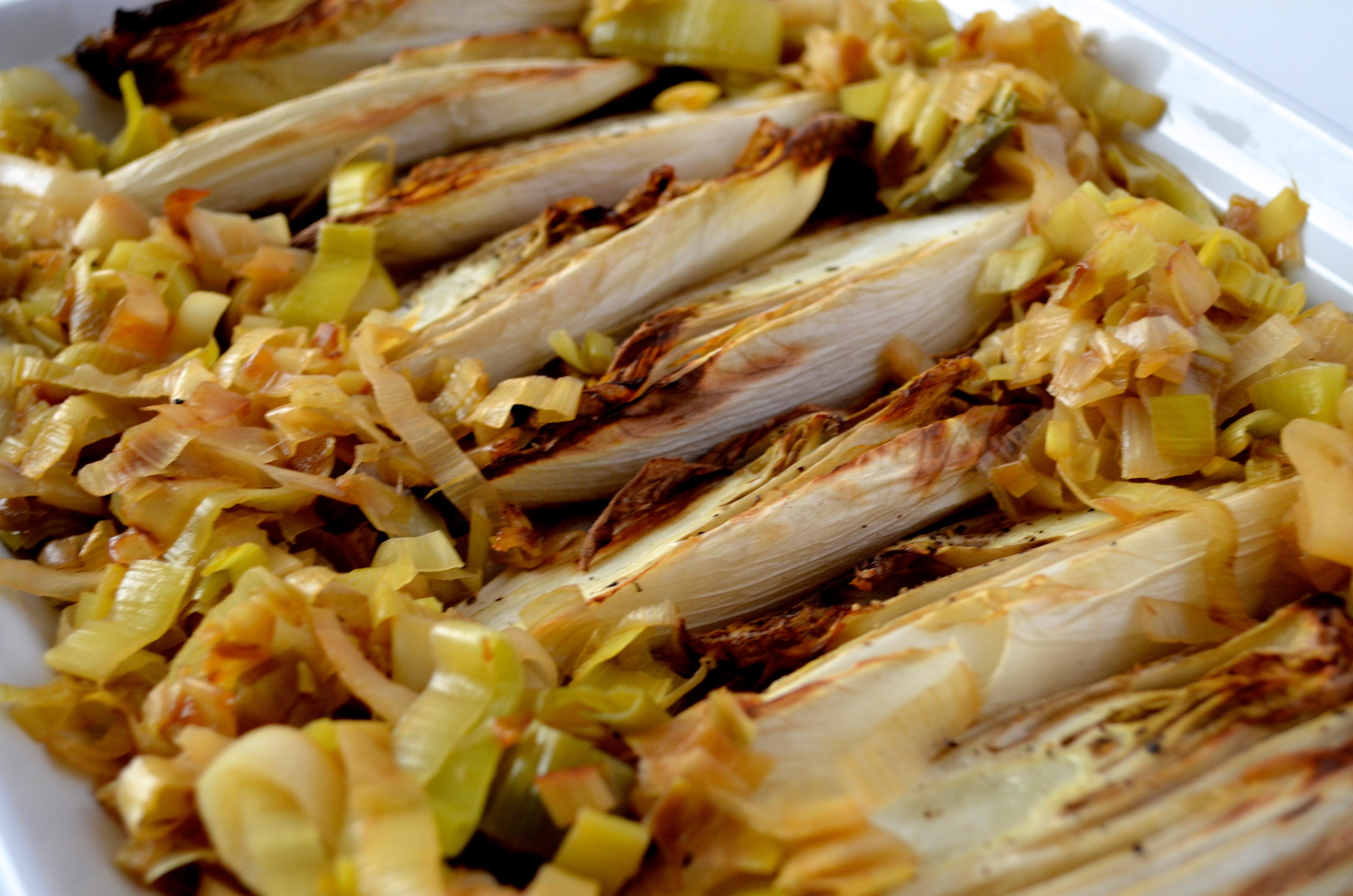 Roasted Endive with Truffled Caramelized Leeks [gluten-free, soy-free ...