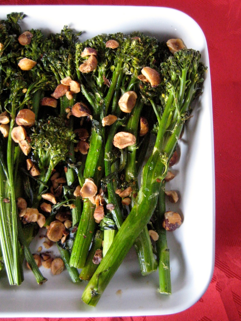 Roasted Broccolini with Toasted Hazelnuts