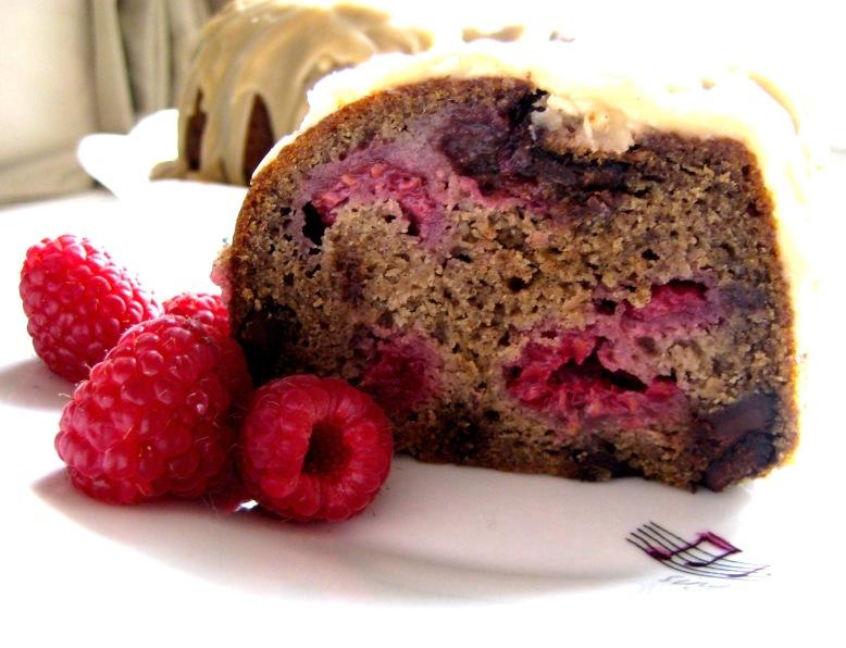 Raspberry Chocolate Chunk Buckwheat Bundt Cake with Maple Icing2